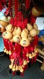 中国工艺品:瓢兄弟雕塑 免版税库存图片