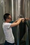 中国工艺啤酒啤酒厂 图库摄影