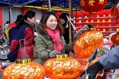 中国市场新的室外年 免版税图库摄影