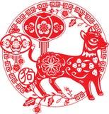 中国年狗例证 库存照片