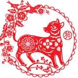 中国年狗例证 免版税库存图片
