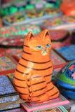 中国幸运的猫神象 图库摄影