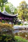 中国庭院在法兰克福 免版税库存图片