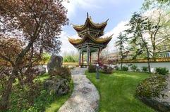 中国庭院在瑞士苏黎士 库存图片