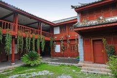 中国庭院房子 免版税图库摄影