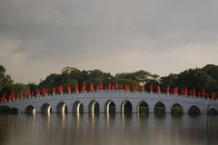 中国庭院桥梁2 库存照片