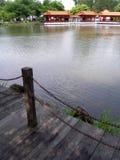 中国庭院横向 库存图片