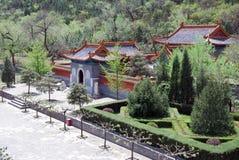 中国庭院的看法 库存照片