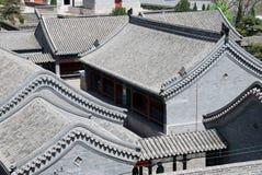 中国庭院的看法 免版税库存照片