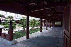 中国庭院走廊 库存照片