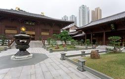 中国庭院香港亭子 免版税库存图片