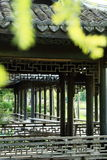 中国庭院,中国建筑学 免版税库存图片