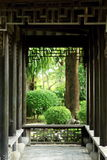 中国庭院,中国建筑学 库存照片