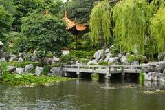 中国庭院,悉尼,澳大利亚 库存照片