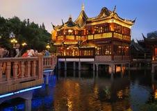 中国庭院yuyuan的上海 免版税库存照片