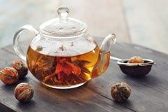 中国开花的茶 免版税图库摄影
