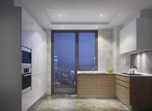 中国式厨房简明的样式豪华公寓的在上海 库存图片