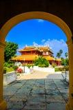 中国式宫殿,轰隆Pa在Ayudhaya省的宫殿, Th 免版税库存图片