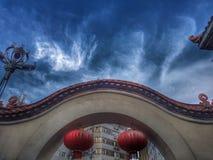 中国式庭院为放松 库存照片