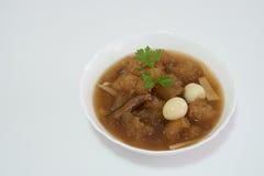 中国式汤或被炖的鱼鱼鳔红色小汤的 库存照片