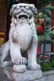 中国式狮子雕象 库存照片
