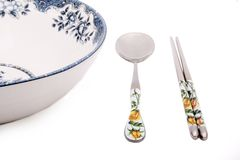 中国式碗筷 免版税库存照片