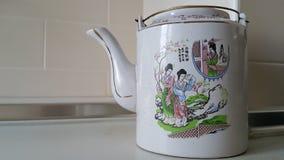 中国式茶罐 库存照片
