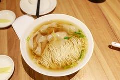 中国式馄饨汤面 免版税库存图片