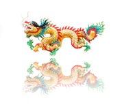 中国式龙雕象 图库摄影