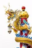 中国式龙雕象 库存图片