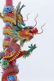 中国式龙雕象 库存照片