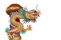 中国式龙雕象 免版税库存图片