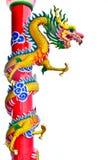 中国式龙雕象 免版税图库摄影