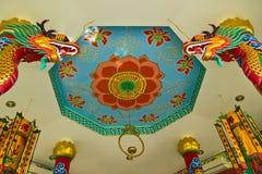 中国式绘画和龙 免版税图库摄影