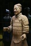 中国战士赤土陶器 免版税库存图片