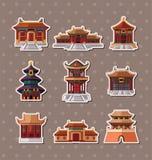 中国房子贴纸 图库摄影