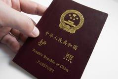 中国护照 库存图片