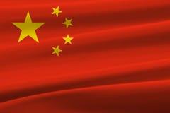 中国挥动的旗子 库存照片