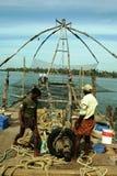 中国捕鱼网 免版税图库摄影