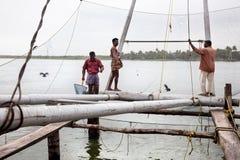 中国捕鱼网 库存照片