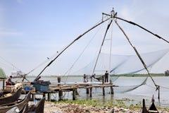 中国捕鱼网 免版税库存图片