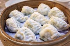中国放出的Dumplins (素食主义者) 免版税库存照片