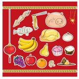 中国文化祖先食物提供 库存照片