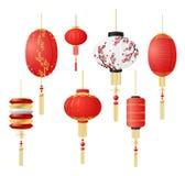 中国新年好 繁体中文灯笼和中国光 图库摄影