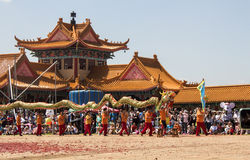 中国新的游行年 非洲著名kanonkop山临近美丽如画的南春天葡萄园 图库摄影