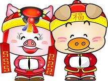 中国新的猪年 皇族释放例证