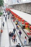 中国新的购物街道年 免版税图库摄影