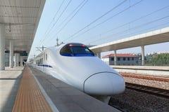 中国新的高速火车 免版税库存照片