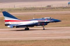 中国新的intercepter战斗机- J-10 库存照片