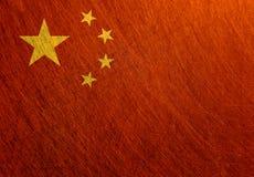 中国旗子葡萄酒,减速火箭,被抓 免版税图库摄影